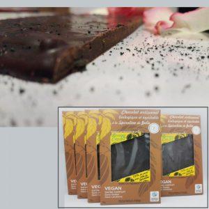 Chocolat croquant à la spiruline de Julie 4+1gratuite offre gourmande